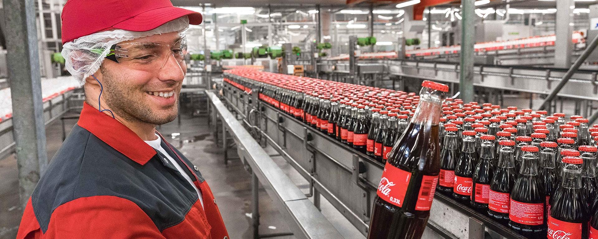 ligne de produits bouteille coca cola header image
