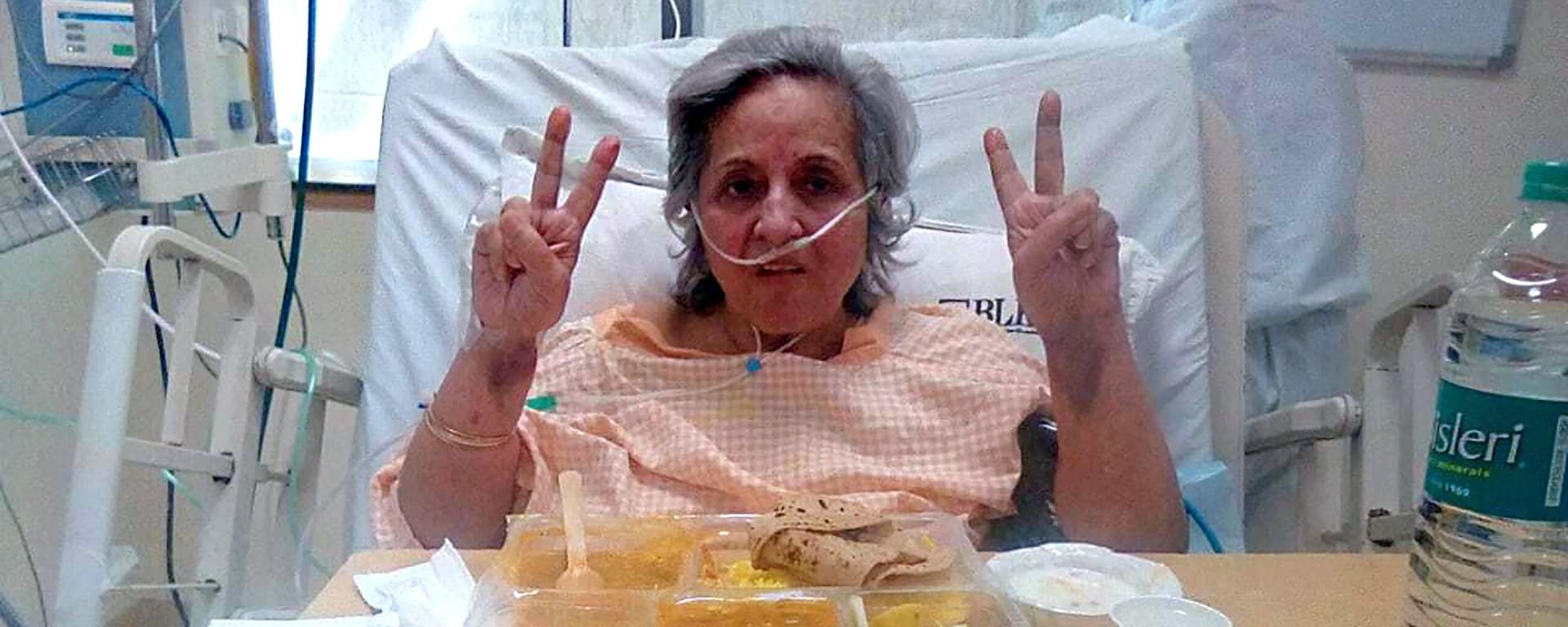 Amit's Mutter mit Covid19 im Krankenhaus