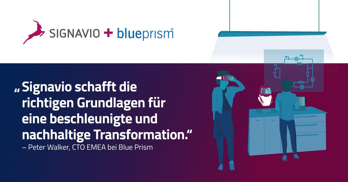Signavio Blue Prism partnership announcement