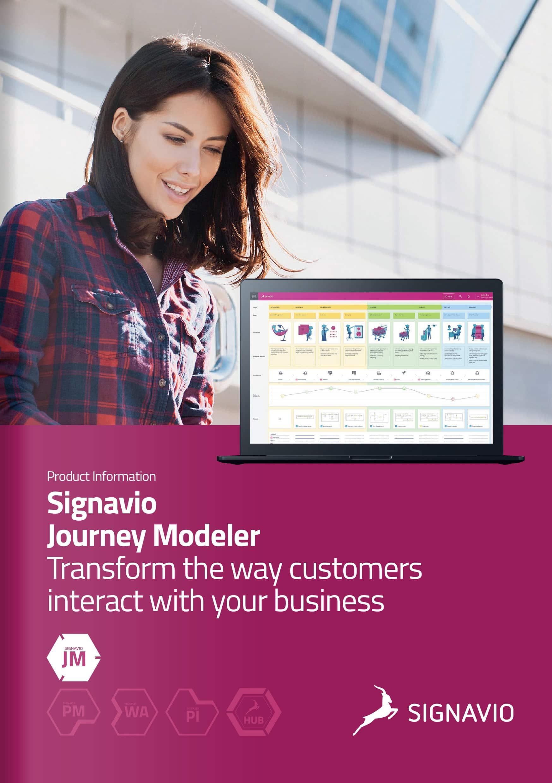 Signavio Journey Modeler brochure cover