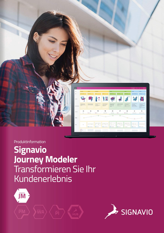 Signavio Journey Modeler Produktinformation Titelbild