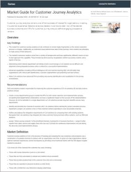 Gartner Market Guide for Customer Journey Analytics Cover