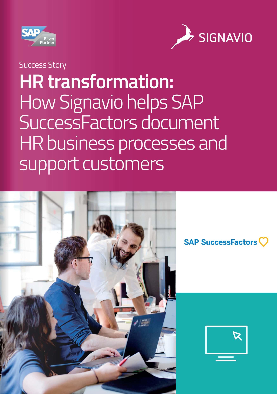 SAP SuccessFactors HR transformation front cover image